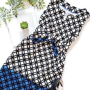 Jones New York Tie Waist Sheath Dress